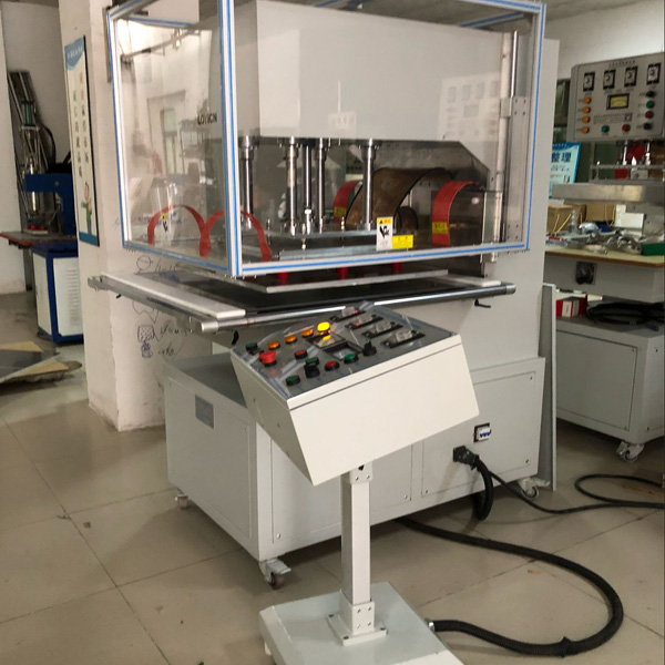 High frequency welding machine for cleats and flights